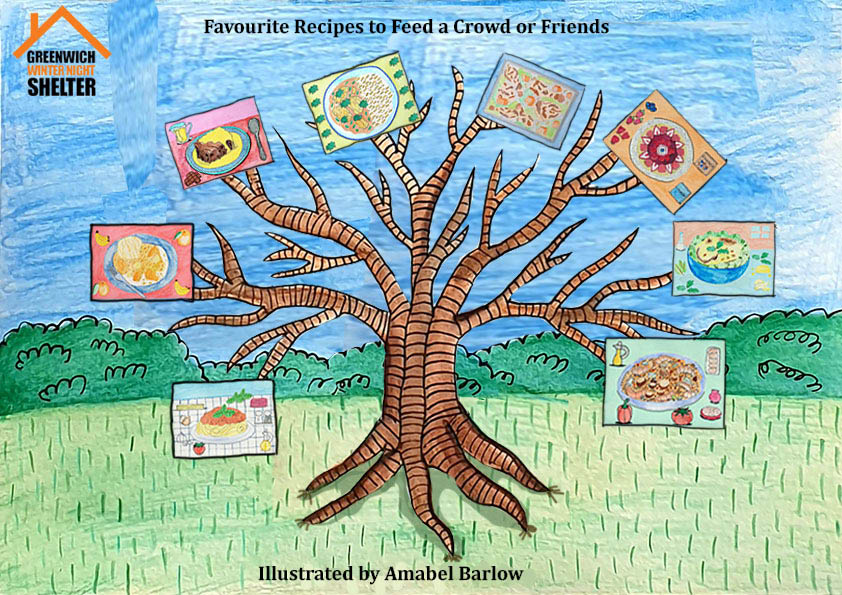 Favourite Recipes to Feed a Crowd or Friends, illustrated by Amabel Barlow